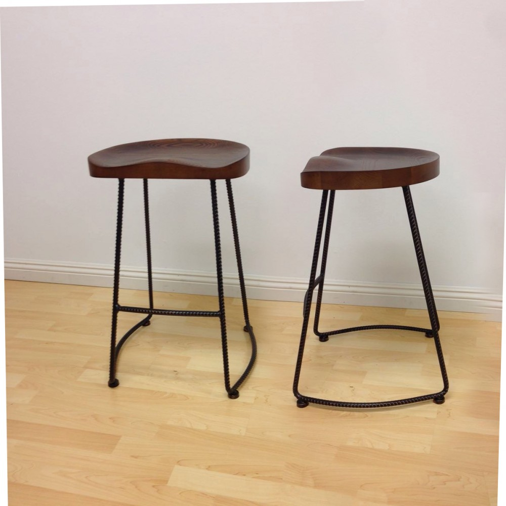 & Potter Wood Counter Stool Metal Leg 2-Pack islam-shia.org