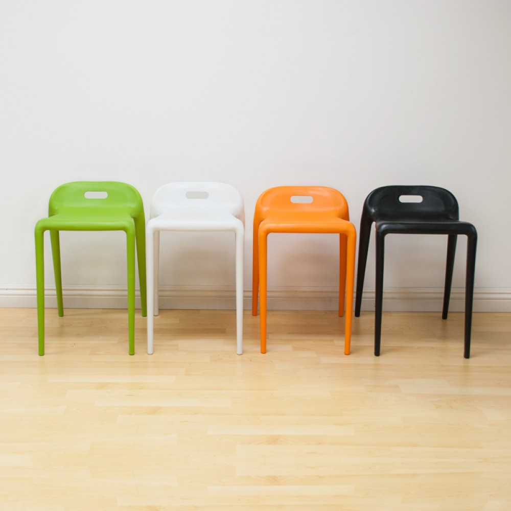 E Z Modern Stacking Stool Chair 2 Pack