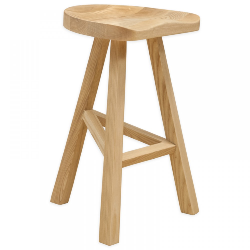 Wood Stools Product ~ Hemi wood counter stool