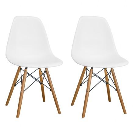 Paris Tower Side Chair Wood Leg 2 Pack
