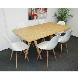 Natural Twin Tower 7-Piece Dining Set