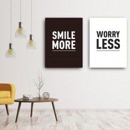 """Smile More Worry Less 11""""Wx16""""H"""