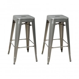 Industrial Bar Stool 2-Pack