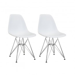 Paris Tower Side Chair Chrome Leg 2-Pack