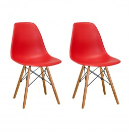 Paris Tower Side Chair Wood Leg 2-Pack