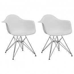 Paris Tower Arm Chair Chrome Leg 2-Pack