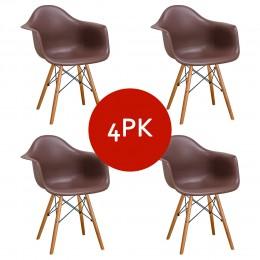 Paris Tower Arm Chair Wood Leg 4-Pack