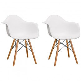 Paris Tower Arm Chair Wood Leg 2-Pack