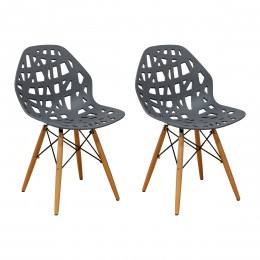 Stencil Cut Out Eiffel Dining Side Chair (Set of 2)