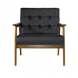 Tufted Leatherette Chair
