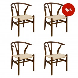 "Mid Century Modern ""W"" Chair-4PK"
